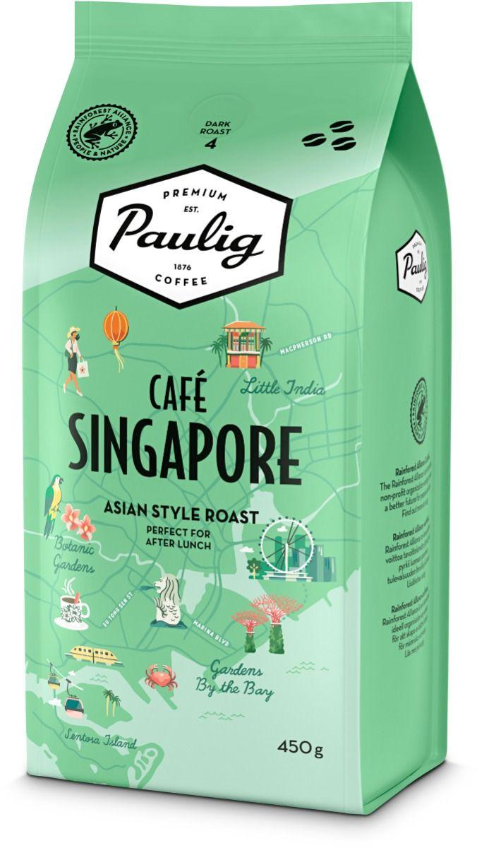 Paulig Café Singapore 8x450g papukahvia Rainforest Alliance